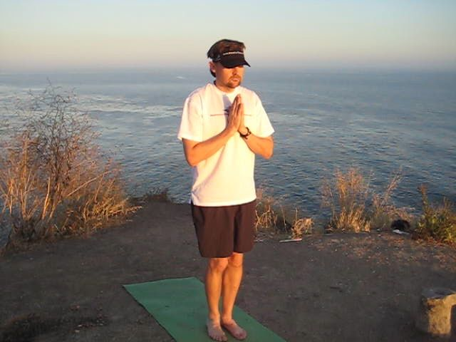 Gary yoga pose