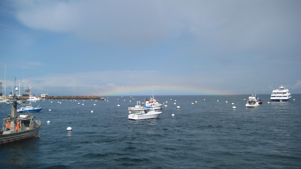 Rainbow over Avalon Harbor at Catalina