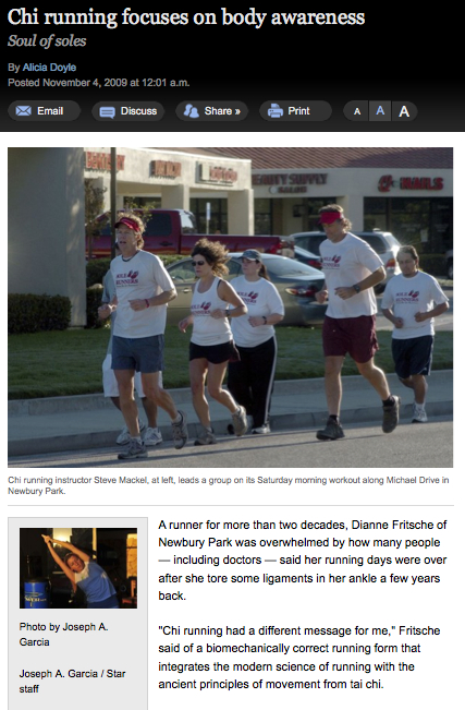 Sole Runners Newbury Park Article